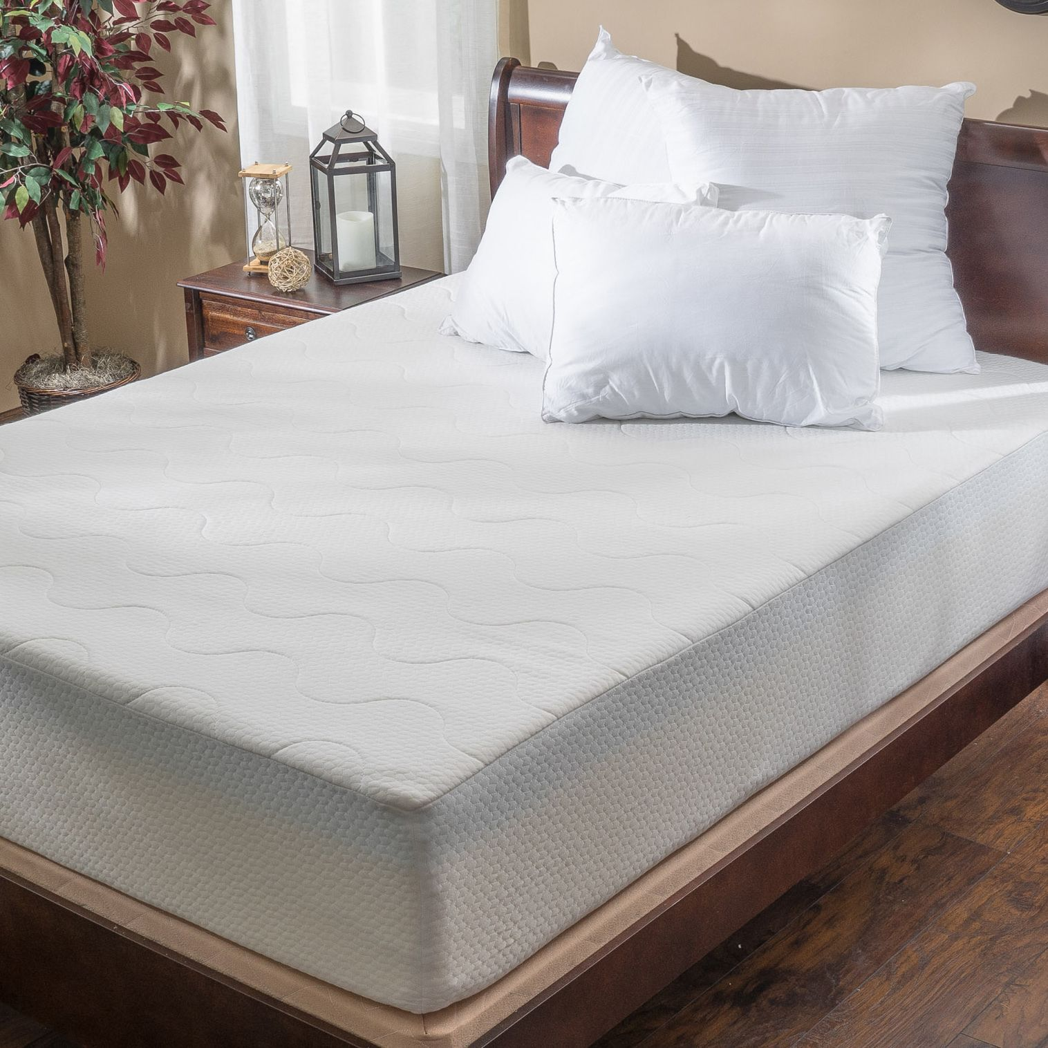 choice 14 inch queen size memory foam mattress by christopher knight