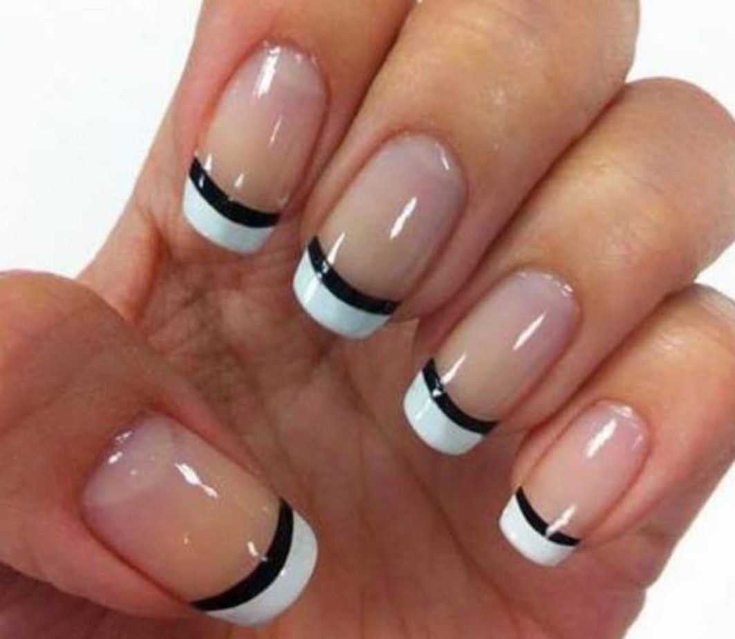 Black and white nail art design | Christmas Nail Art | Pinterest ...