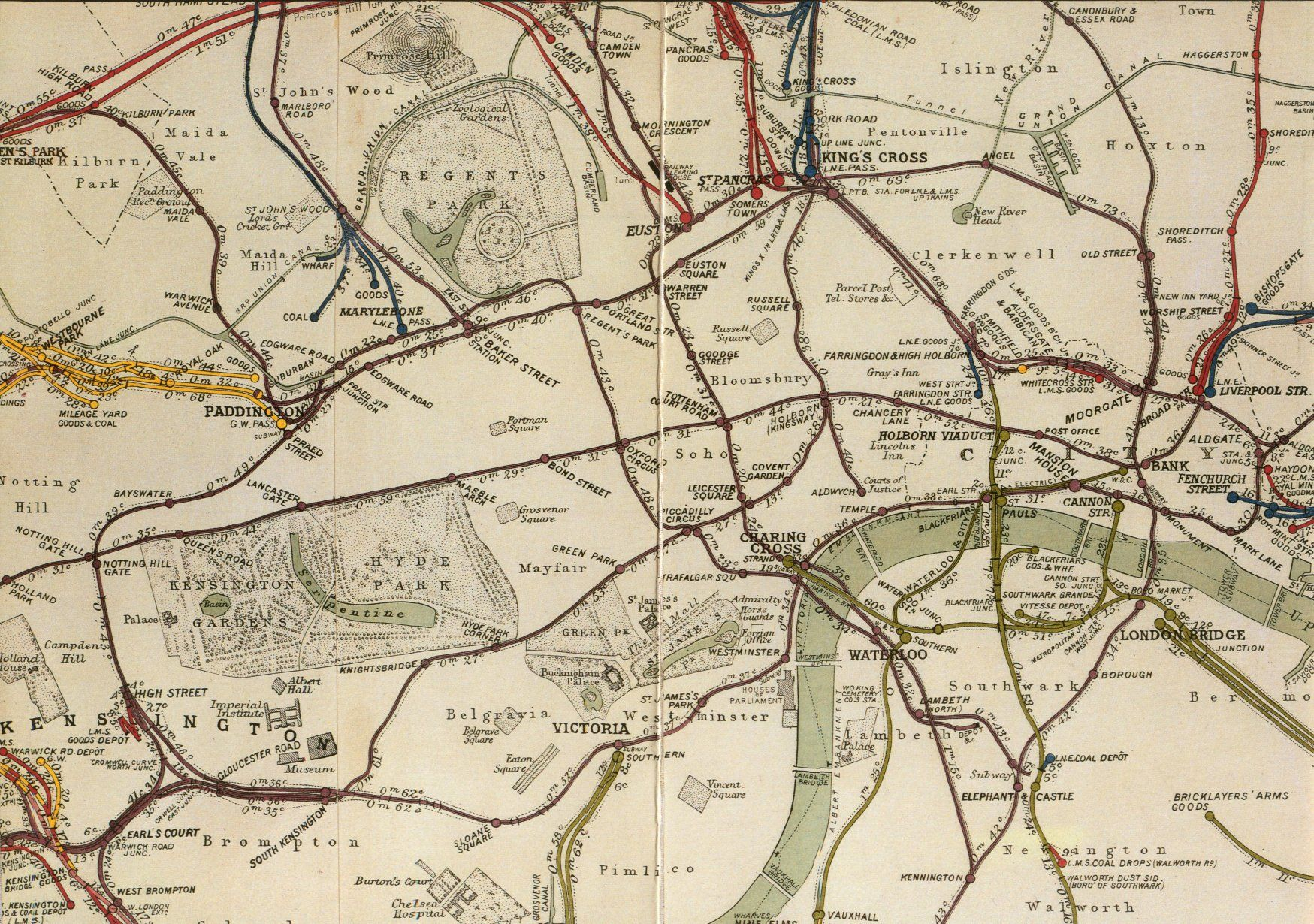 london england 1935 rail