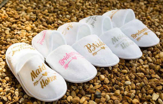 537119863b Personalised bride slipper, bridesmaid slippers,hen party slippers ...