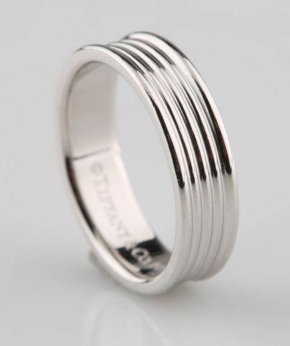 Tiffany Co Five Row Band Ring Size 6 Platinum 4mm Mens 5 Row Wedding Rings For Men Rings Mens Wedding Bands Mens Wedding Bands Platinum