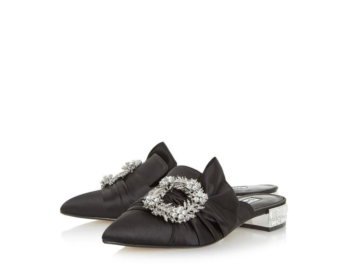 d0f0e9a4b50d Add some sparkle with Dune Londons Carousel brooch detail mule. Featuring a pointed  toe,