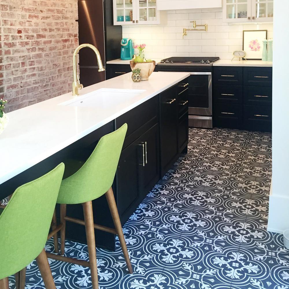 Save Or Splurge Black Amp White Floor Tile Wall Tiles Tiles Kitchen Flooring