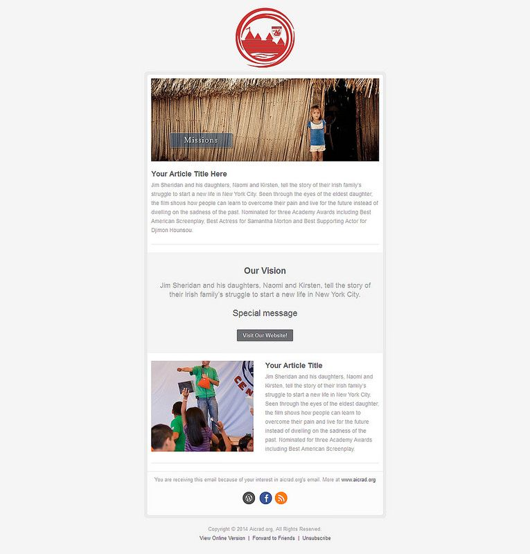 Sample Pinterest Email Service Provider Campaign Monitor And - Html email starter template