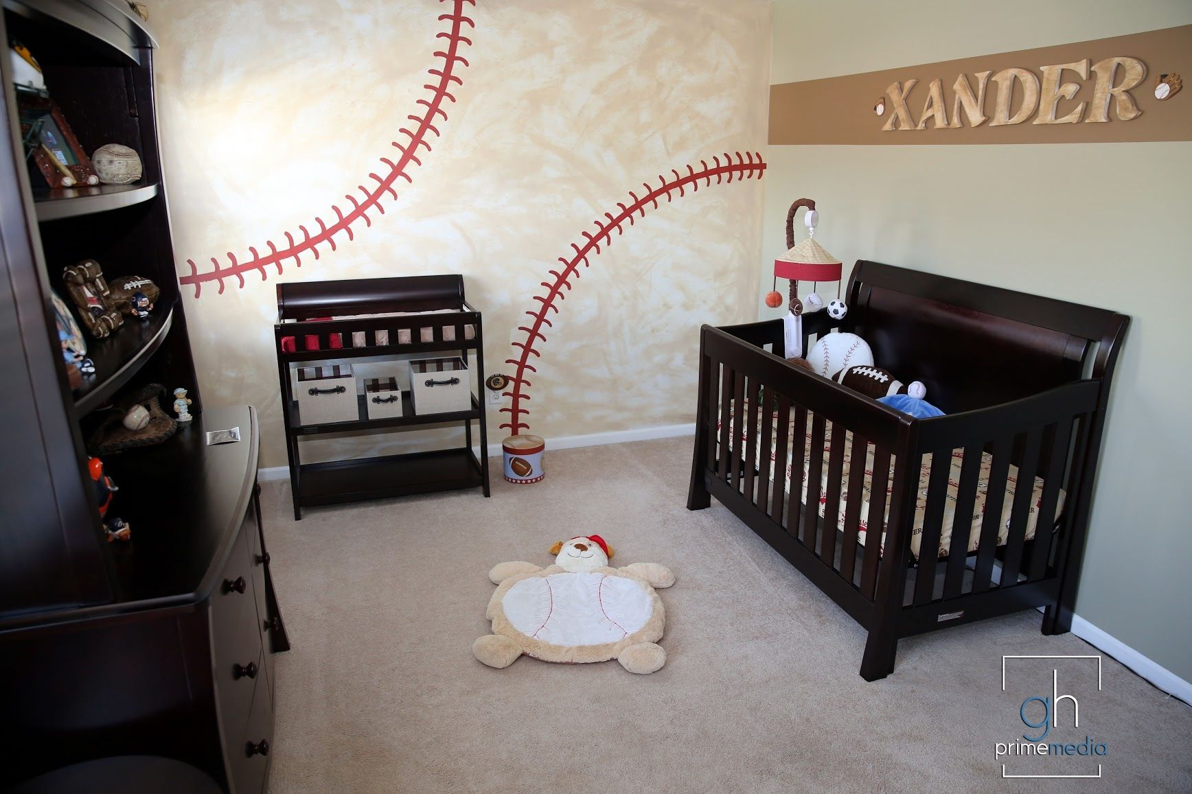 Vintage Baseball Room Love This