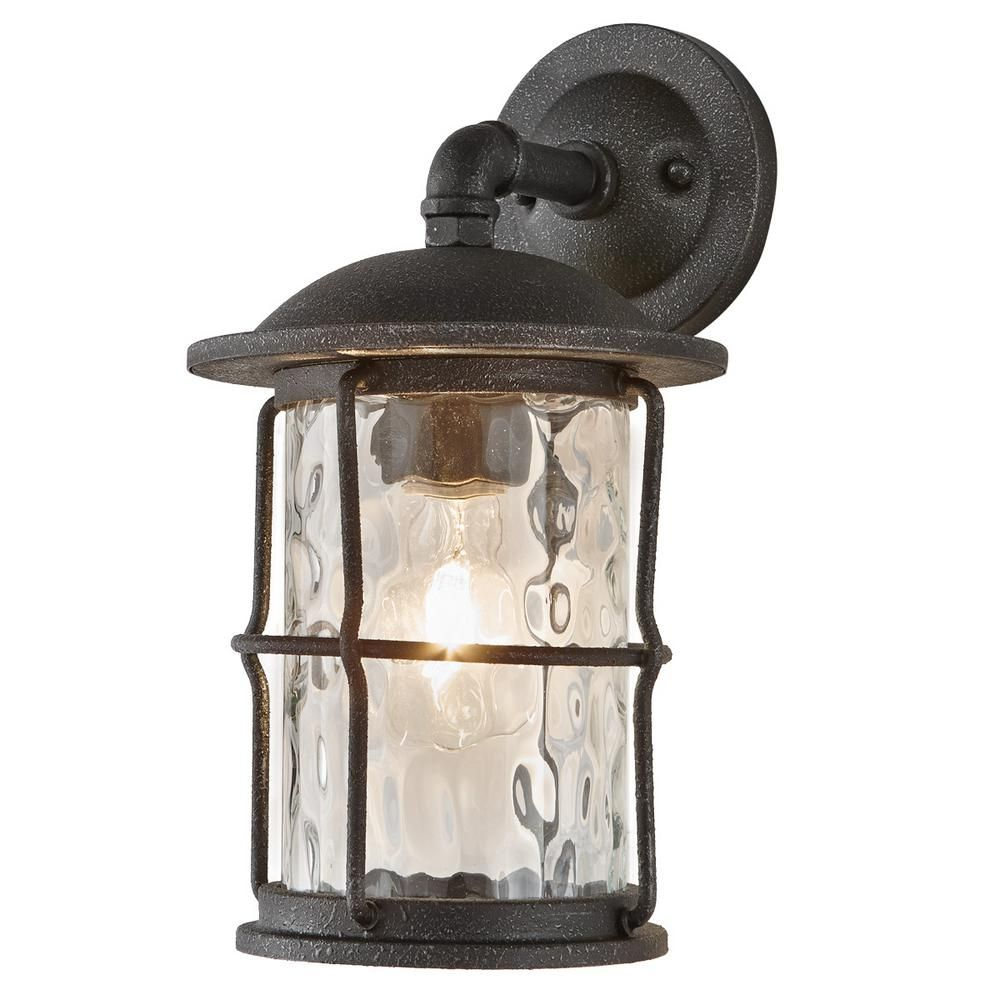 Home Decorators Collection 1 Light Gilded Iron Outdoor Wall Mount Lantern 7956hdcgidi The Home Depot Outdoor Wall Lantern Wall Mount Lantern Wall Lantern