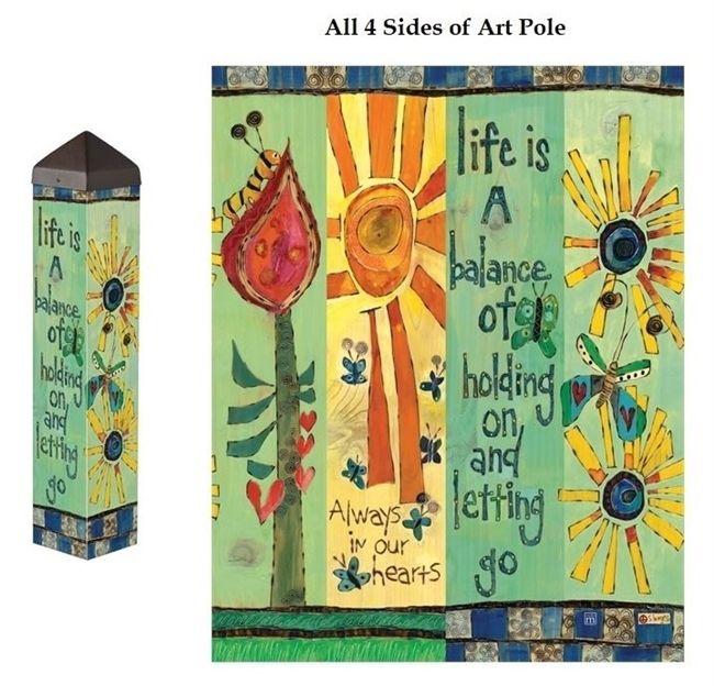 Life Is A Balance 20 Art Pole Painted Peace Decoration