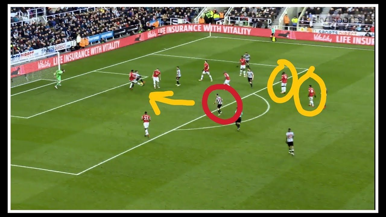 Analysing The Goal Newcastle United 1 0 Manchester United Newcastle United Newcastle Manchester United