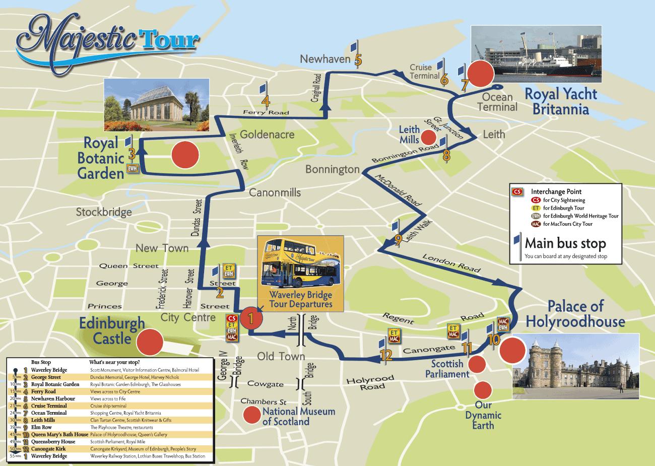 Edinburgh Hop On Hop Off Map MajestictourMap Hop on Hop Off | Scotland in 2019 | Edinburgh