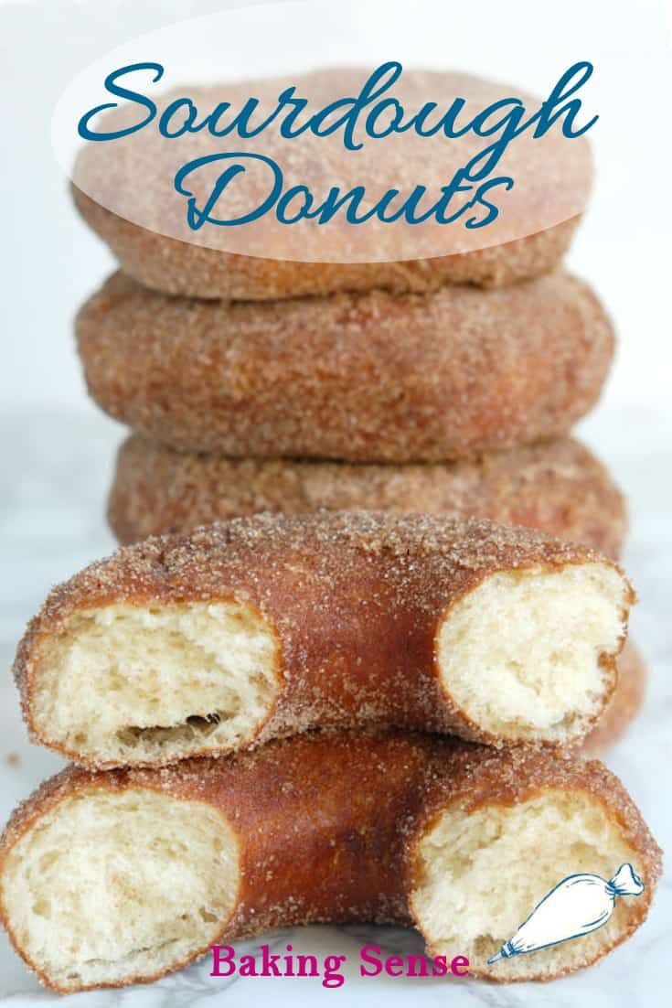 These are true Sourdough Donuts, made without any commercial yeast. A slow fermentation gives these donuts a spectacular flavor and texture. They're like no donuts you've ever tasted. #how to #recipe #doughnuts #homemade #fried #yeast