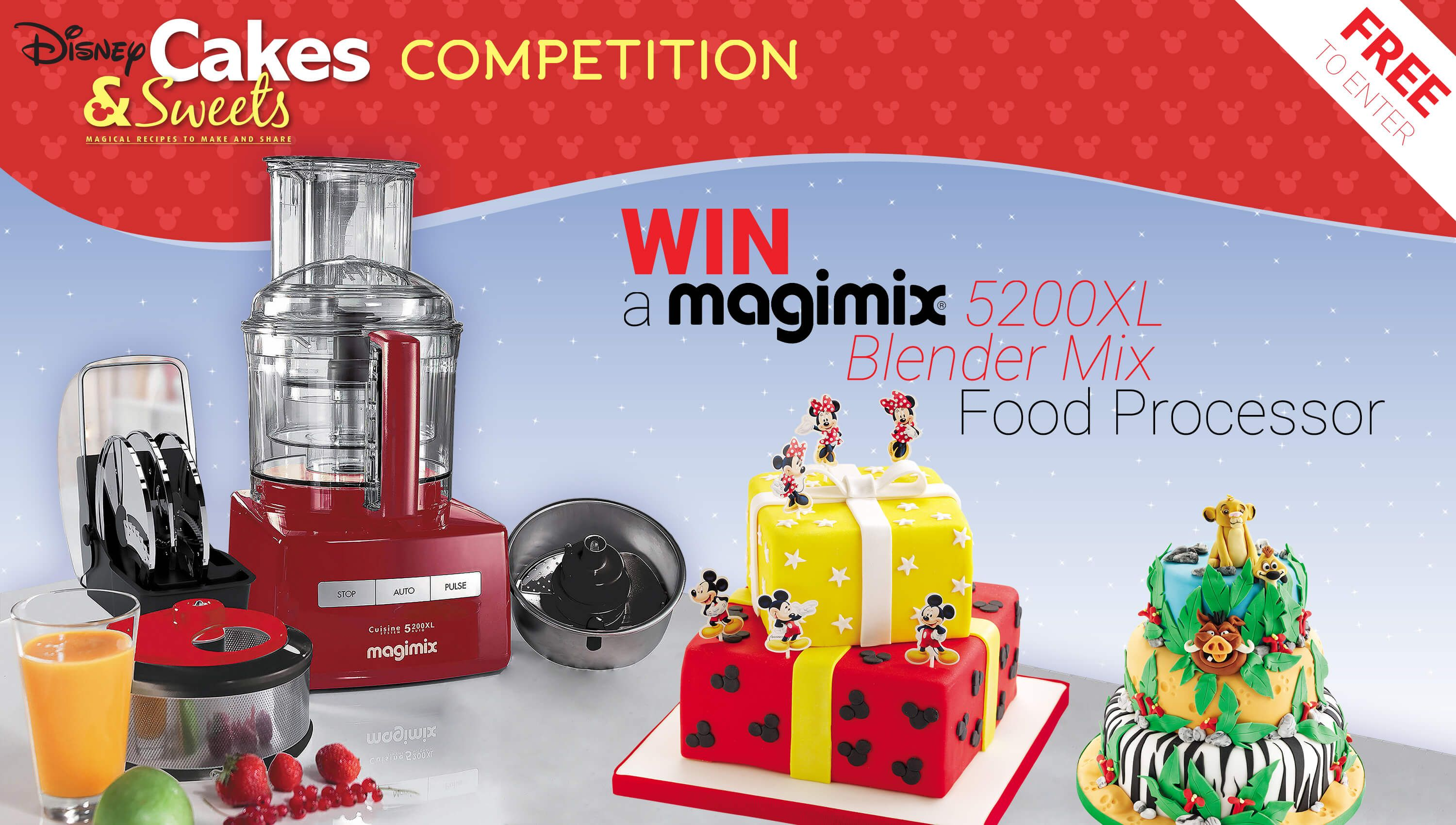 Win A Magimix Blendermix Food Processor Worth 399 99 In 2020 Food Processor Recipes Cake Competition Disney Cakes