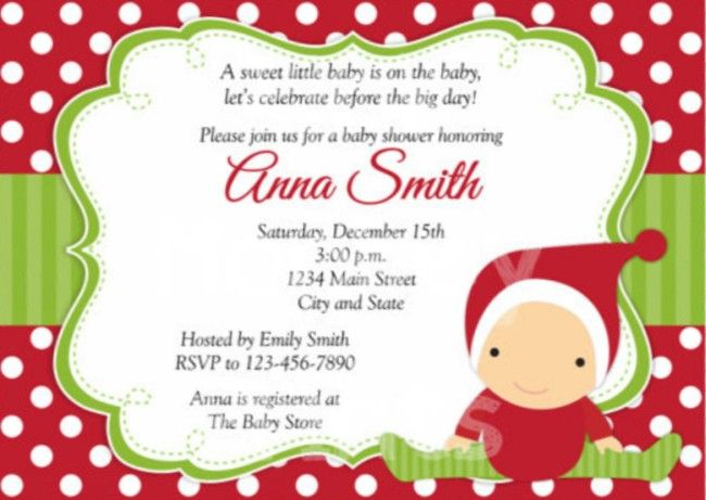 Download Now Christmas Baby Shower Invitations Free Baby Shower