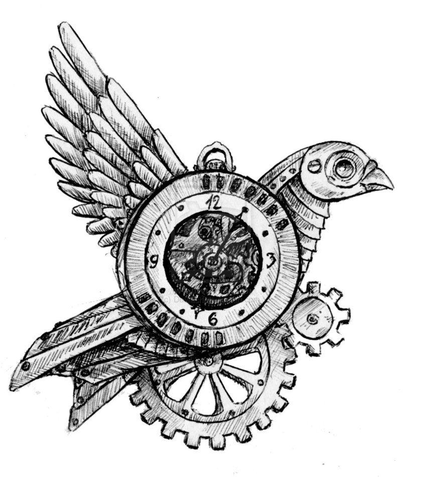 Steampunk Bird Steampunk Bird Steampunk Artwork Steampunk Art Drawing
