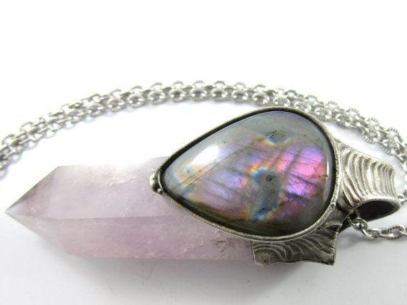 the violet flame  purple labradorite & amethyst by callistojewelry