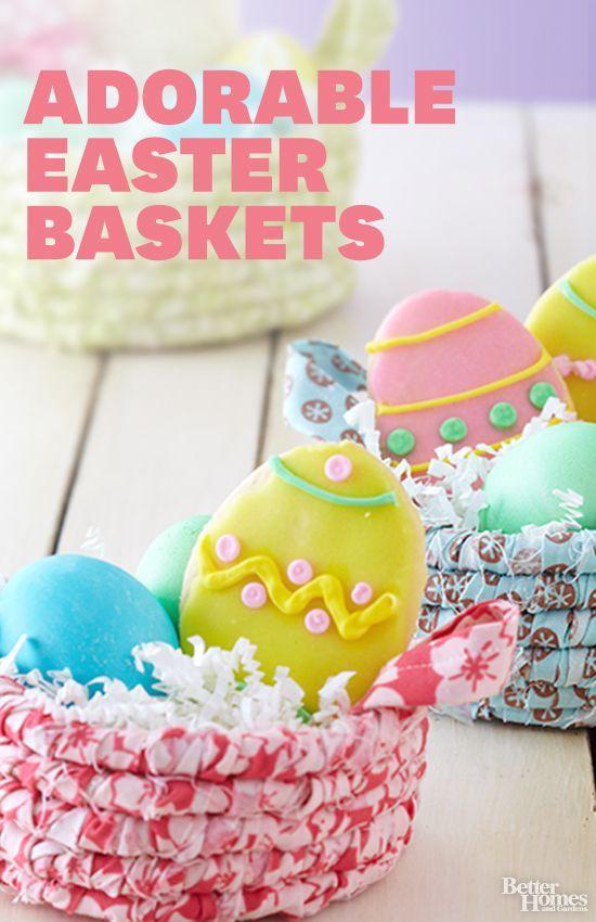easy easter baskets pinterest easter baskets basket ideas and