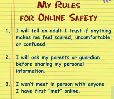 rules of internet dating safety Tips for safe online dating  the point of online dating isn't to reinvent yourself or to try out  your safety should always be something that is on your mind.