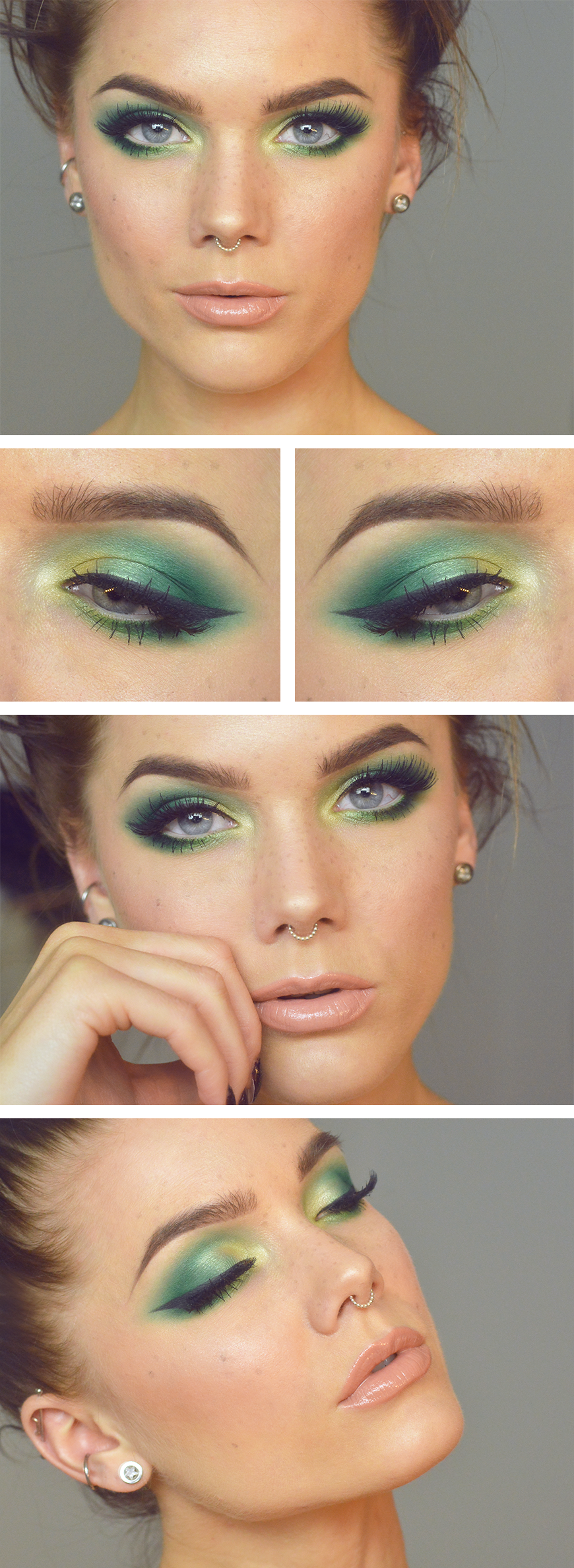 Todays look lindas sminkblogg packers nice and makeup this would be nice for green bay packer parties baditri Images