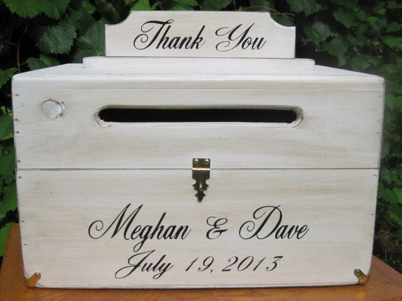 Wedding Card Box, Wooden Centerpiece Rustic Chest Personalized Bride ...
