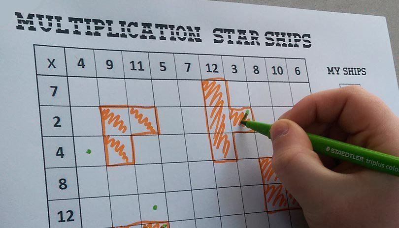 This Multiplication game re-works \'Battleships\' to help children ...
