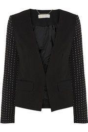 MICHAEL Michael KorsLux stud-embellished crepe jacket