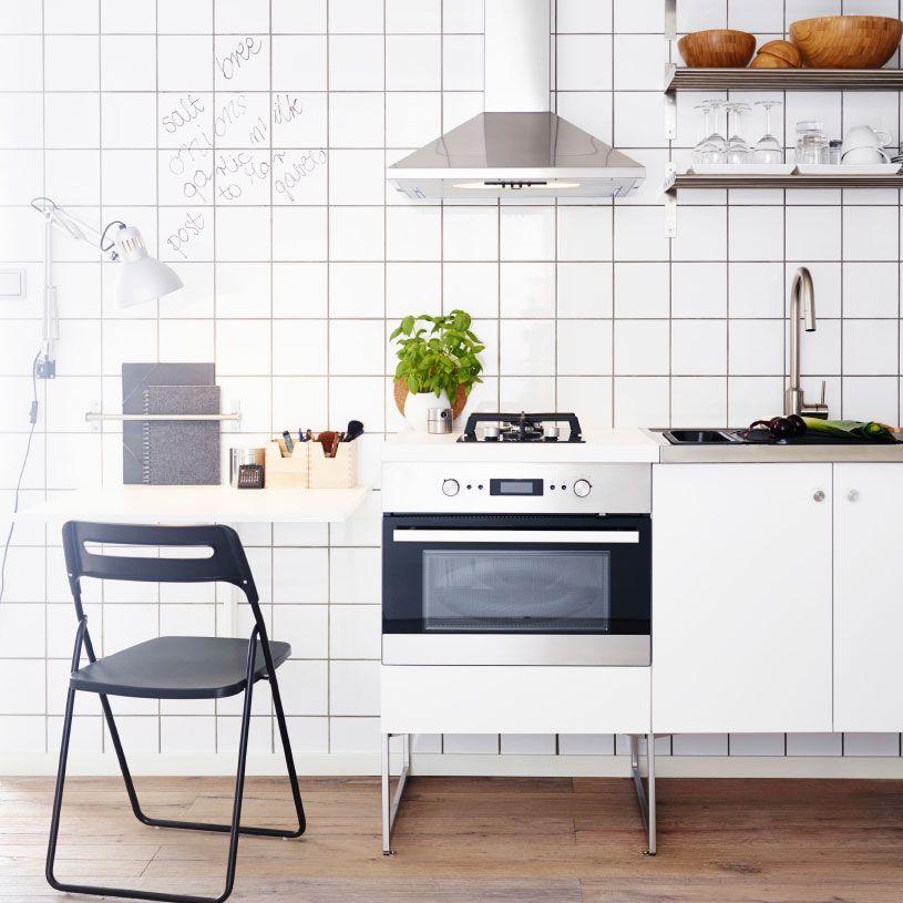 moderne, weisse küche mit hÄggeby fronten und freistehenden, Deko ideen