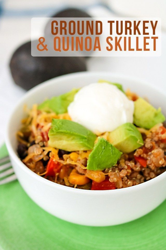 Quinoa Ground Turkey Skillet  Piper Cooks Quinoa Ground Turkey Skillet  Healthy weeknight meal option quick to get on the table  Recipe by PiperCooks