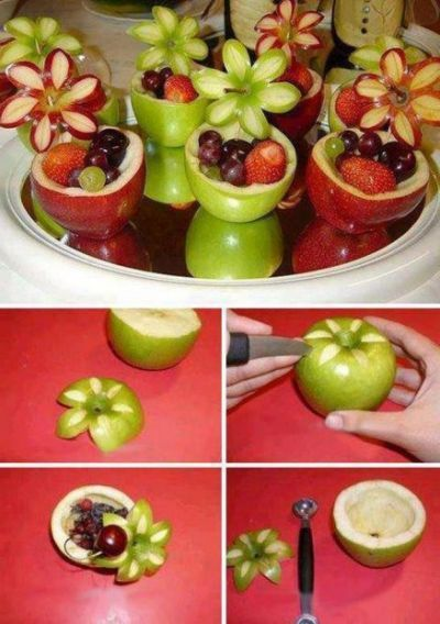 Great Ideas For Apple Fruit Decoration Baby Shower Food Fruit