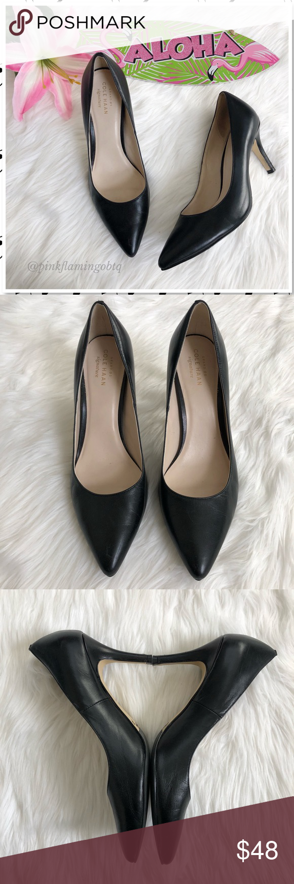 8c3cef8eff8 Cole Haan Grand OS Signature Black Leather Pump Cole Haan Grand OS ...