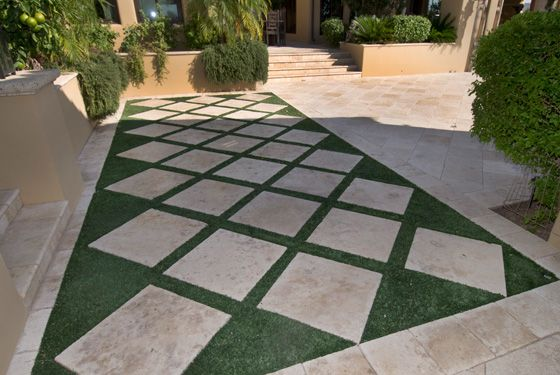 travertine paver designs | to our outdoor paver showroom ... on Travertine Patio Ideas id=79358