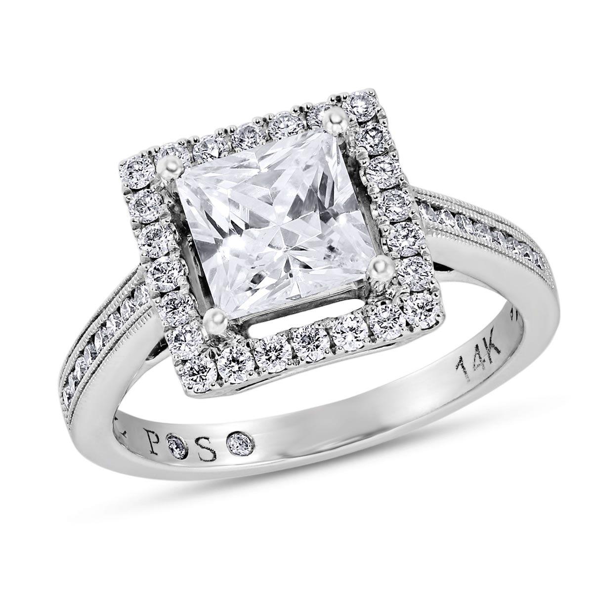 PassionStone Collection, 14k White Gold Princess SI2