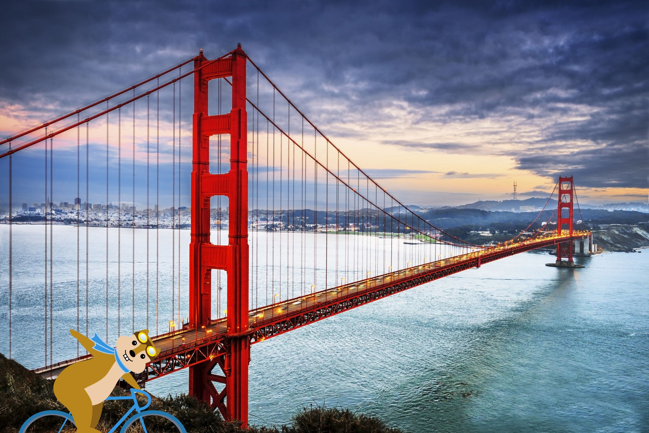 Biking the GG bridge in San Francisco. Search thousands of hotels at once and save up to 60% on your next hotel in San Francisco (or anywhere else!)