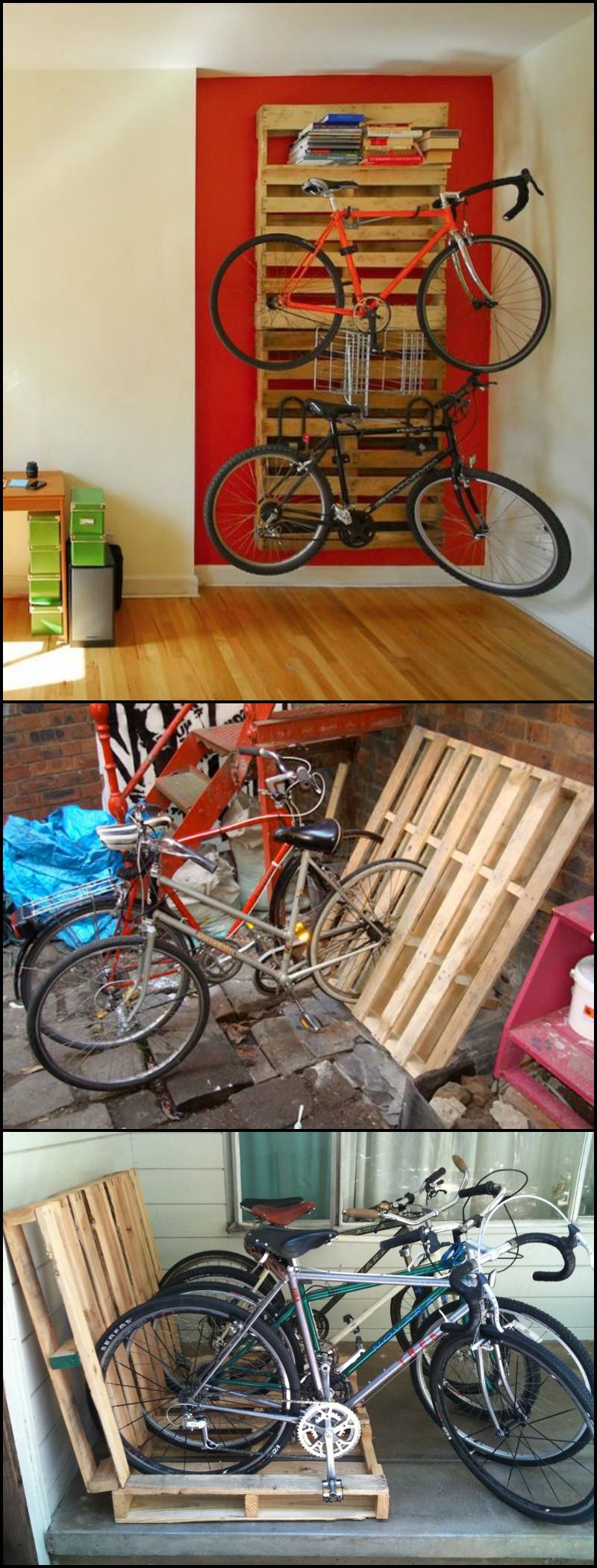 Build A Bike Rack From Recycled Pallets Inspire Reduce
