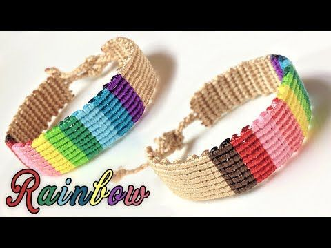 Photo of Macrame tutorial – how to make The colorful rainbow bracelet – Easy with basic know for starter