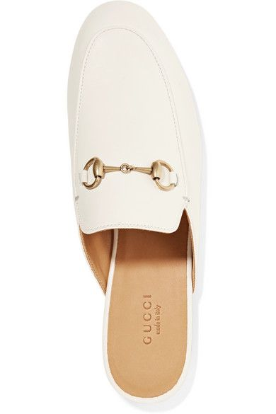 d7ebc0453f2 Heel measures approximately 10mm  0.5 inches Off-white leather (Goat) Slip  on Made in Italy
