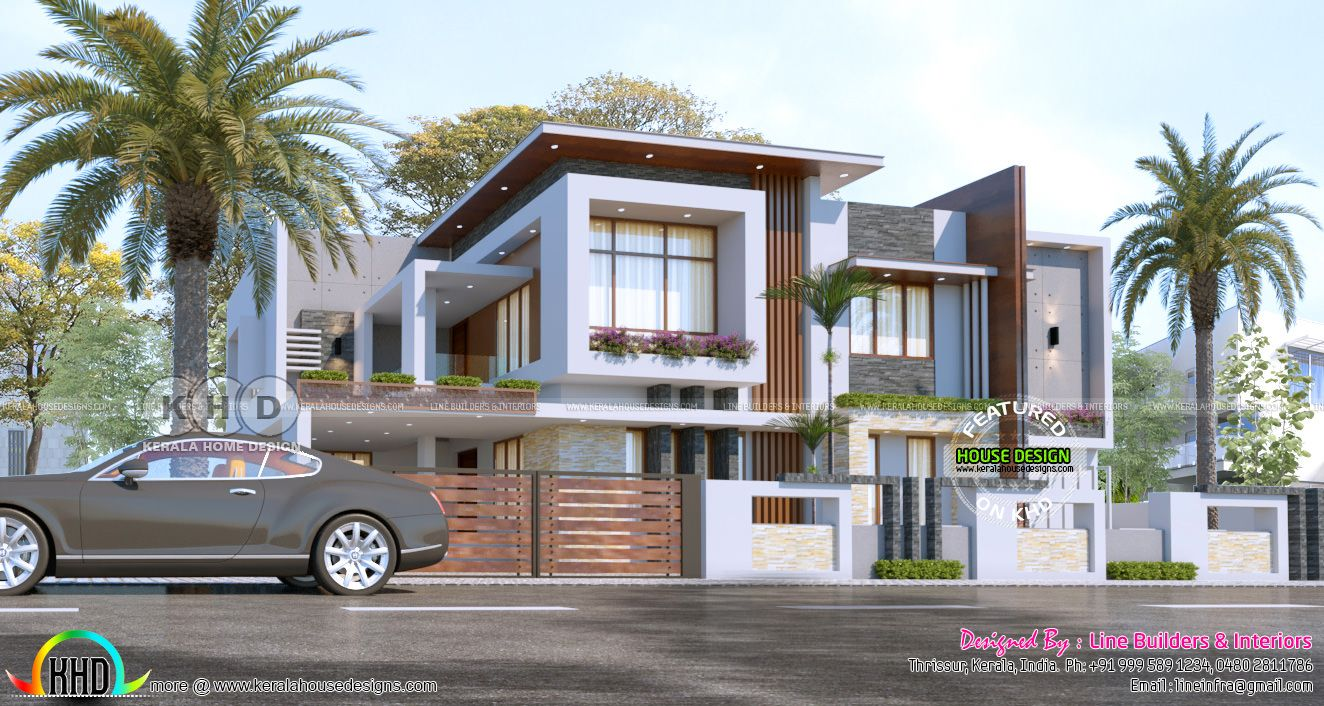 3134 sq-ft 4 bedroom flat roof house contemporary style in ...