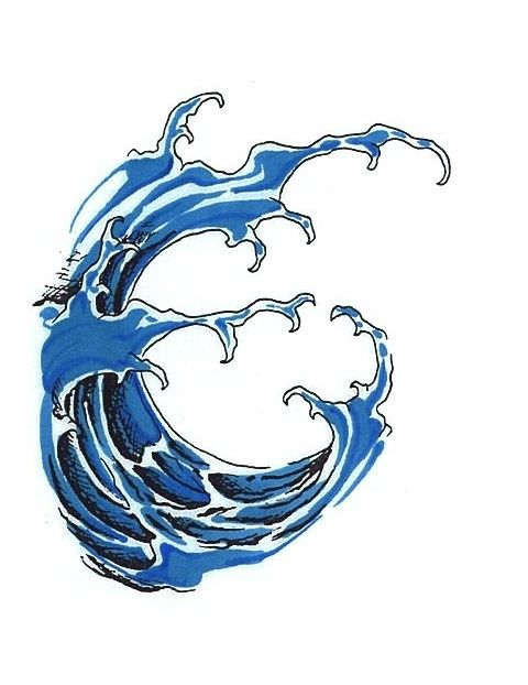blue-wave-tattoo.jpg (480×622) | water tattoo, japanese water tattoo, waves  tattoo  pinterest