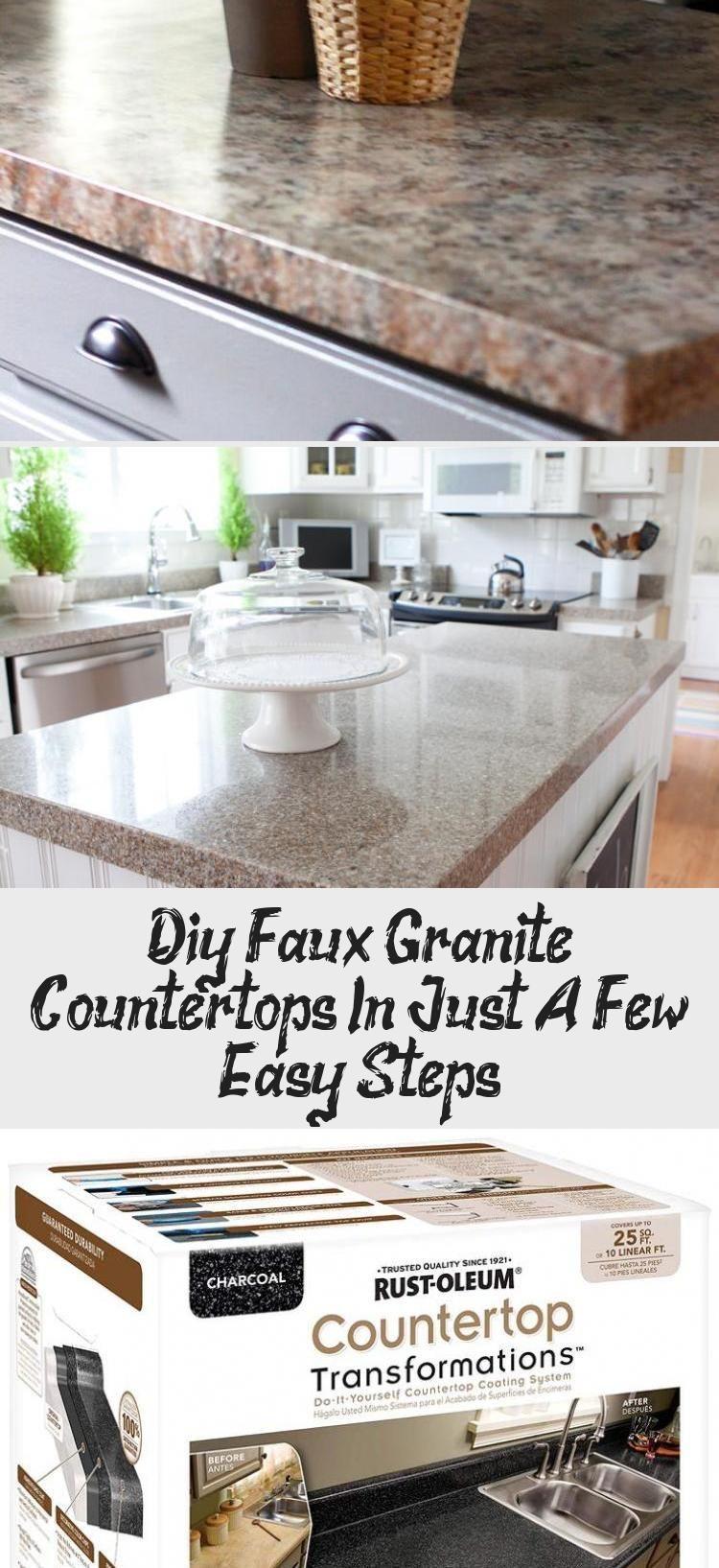 Diy Faux Granite Countertops In Just A Few Easy Steps Ktchn Fauxgranite Learn How To Make Faux Gra In 2020 Granite Countertops Faux Granite Countertops Faux Granite