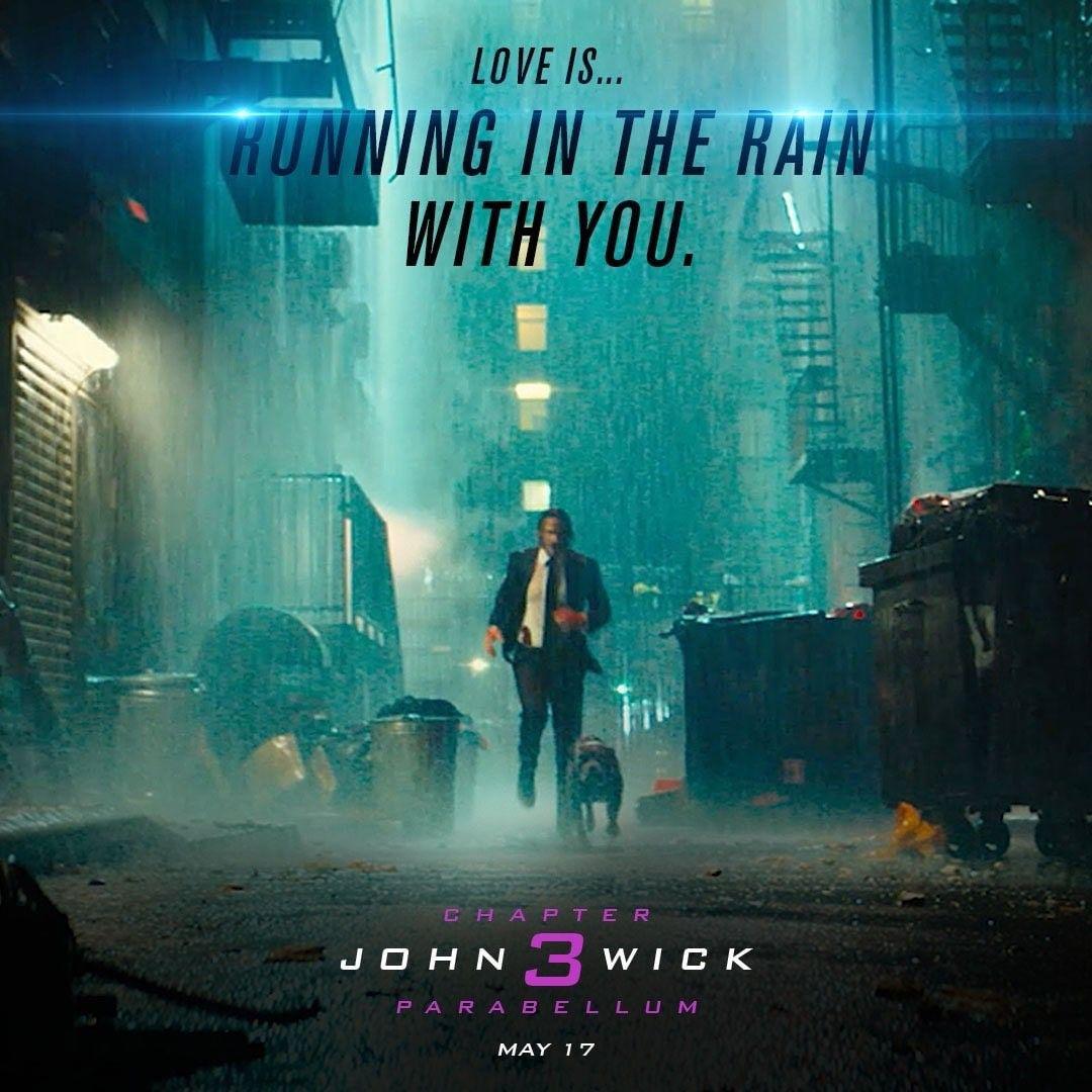 John Wick 3 The Last Movie Keanu Reeves Running In The Rain