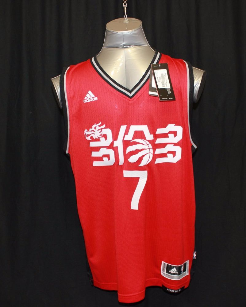 7f12fde0100 NBA Toronto Raptors Kyle Lowry Adidas Jersey Chinese New Year Red 2017  Medium