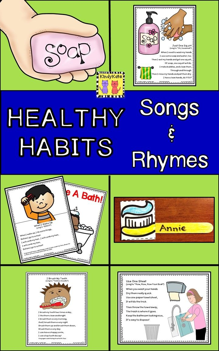 Healthy Habits Songs & Rhymes: Washing Hands, Dental Health, Hygiene ...