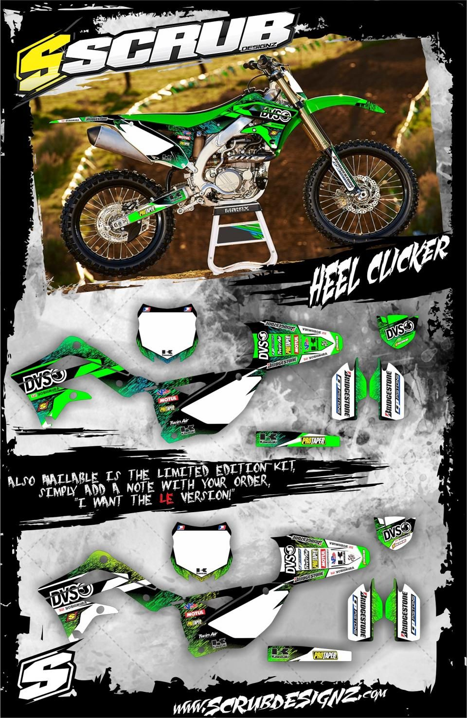 Kawasaki Motocross Graphic Sticker Decal Kit Mx Graphics Kx250 Wiring Harness For Kx450f