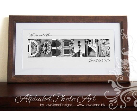 Personalized Name Frame Traditional Black Wood Frame Alphabet Letter Photos Custom Framed And Matted 10x20 Custom Name Name Frame Custom Framing Alphabet Photos