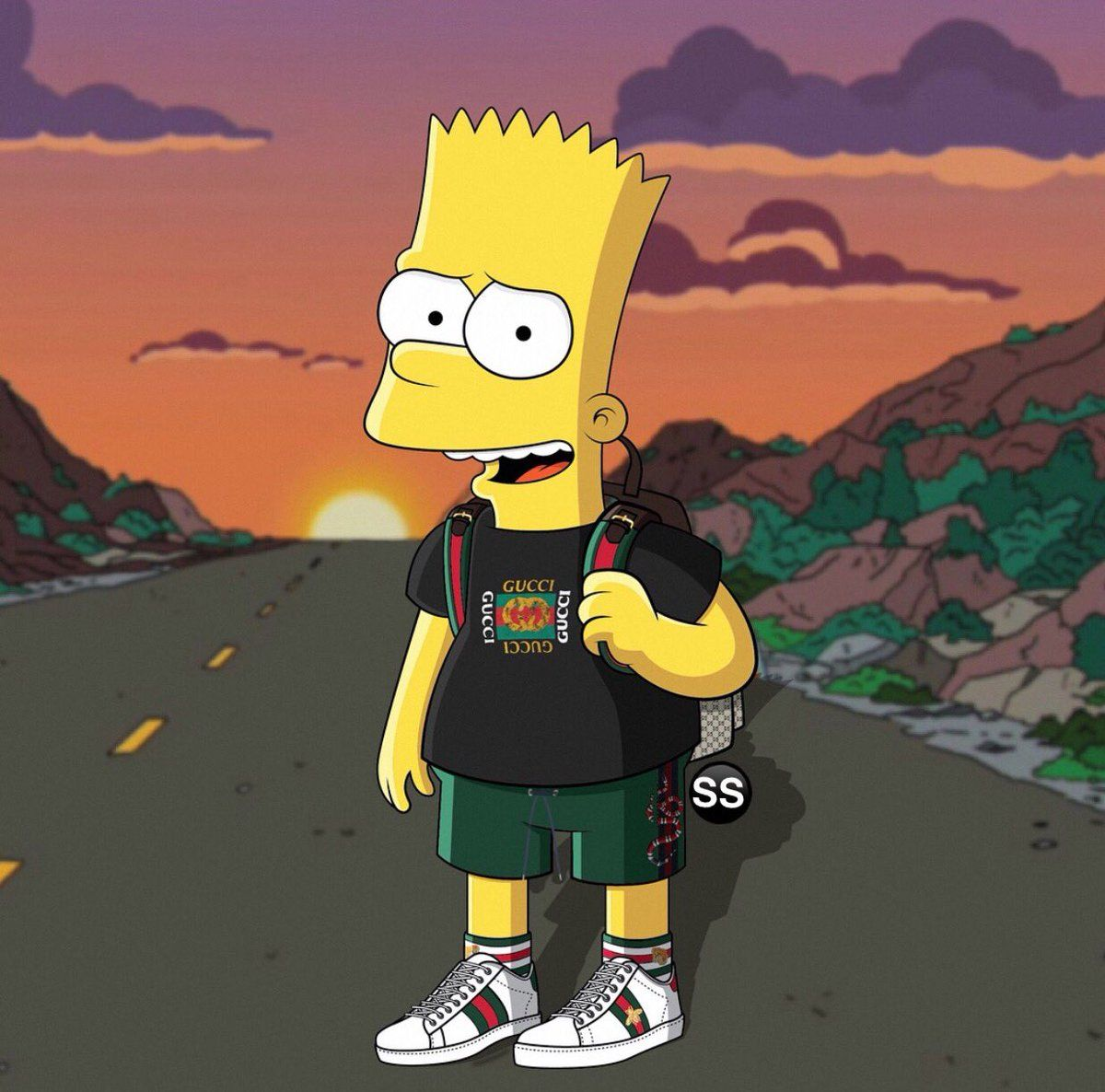 Found on Bing from Simpsons art, Bart