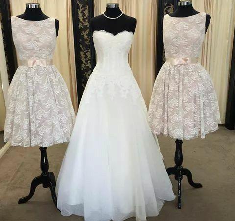 Bride And Abay Gown Wedding Ideas Bridesmaid Bridesmaid Dresses