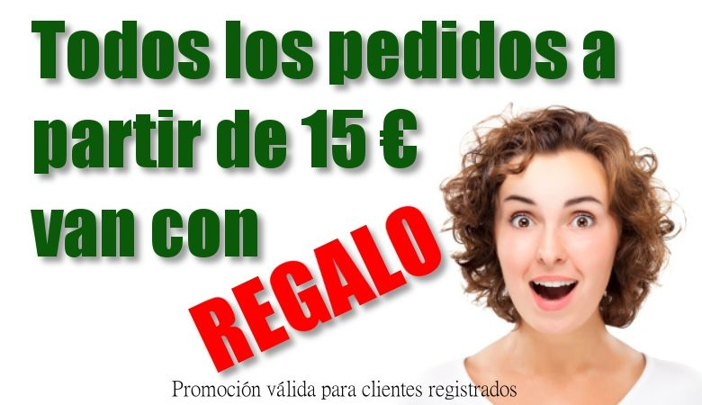 A partir de 15 euros todos los pedidos llevan REGALO