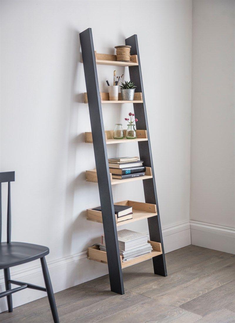 Clockhouse Shelf Ladder Oak Shelves Ladder Shelf Decor Ladder