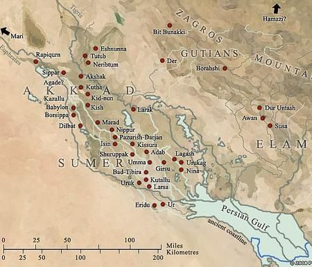Umma Map Map of Mesopotamia: sh...