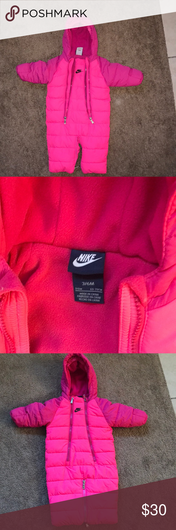 b85bb1a4d Nike baby girl Pink Snowsuit