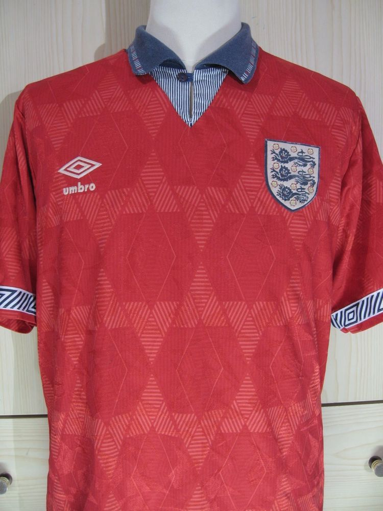 Paul Gascoigne England World Cup 1990 Away Umbro Football Shirt Vintage Jersey L Ebay Sports Fan Shirt Football Shirts Fan Shirts