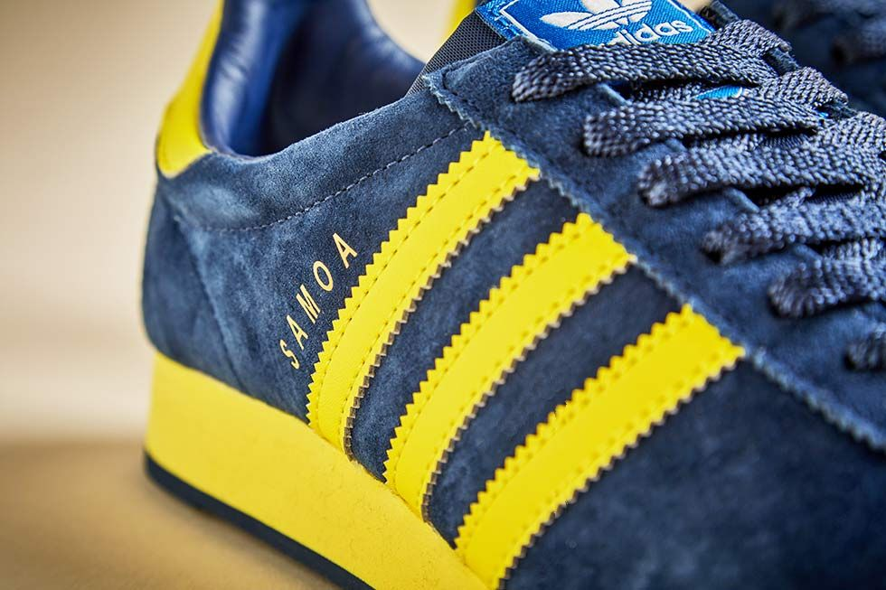 Adidas Men's Samoa Originals MineraYellowWhite Casual Shoe